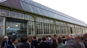 Networking and drinks at the Greenwich Heritage Center